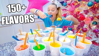 I TRIED 150 SHAVED ICE FLAVORS IN 1 DAY!!