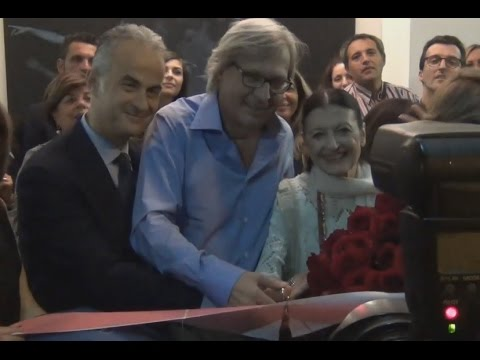 Caserta - Arte e danza, Vittorio Sgarbi e Carla Fracci alla serata di Kima (07.10.14)