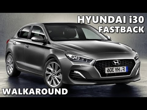 hyundai i30 fastback 2018 exterior walkaround youtube. Black Bedroom Furniture Sets. Home Design Ideas