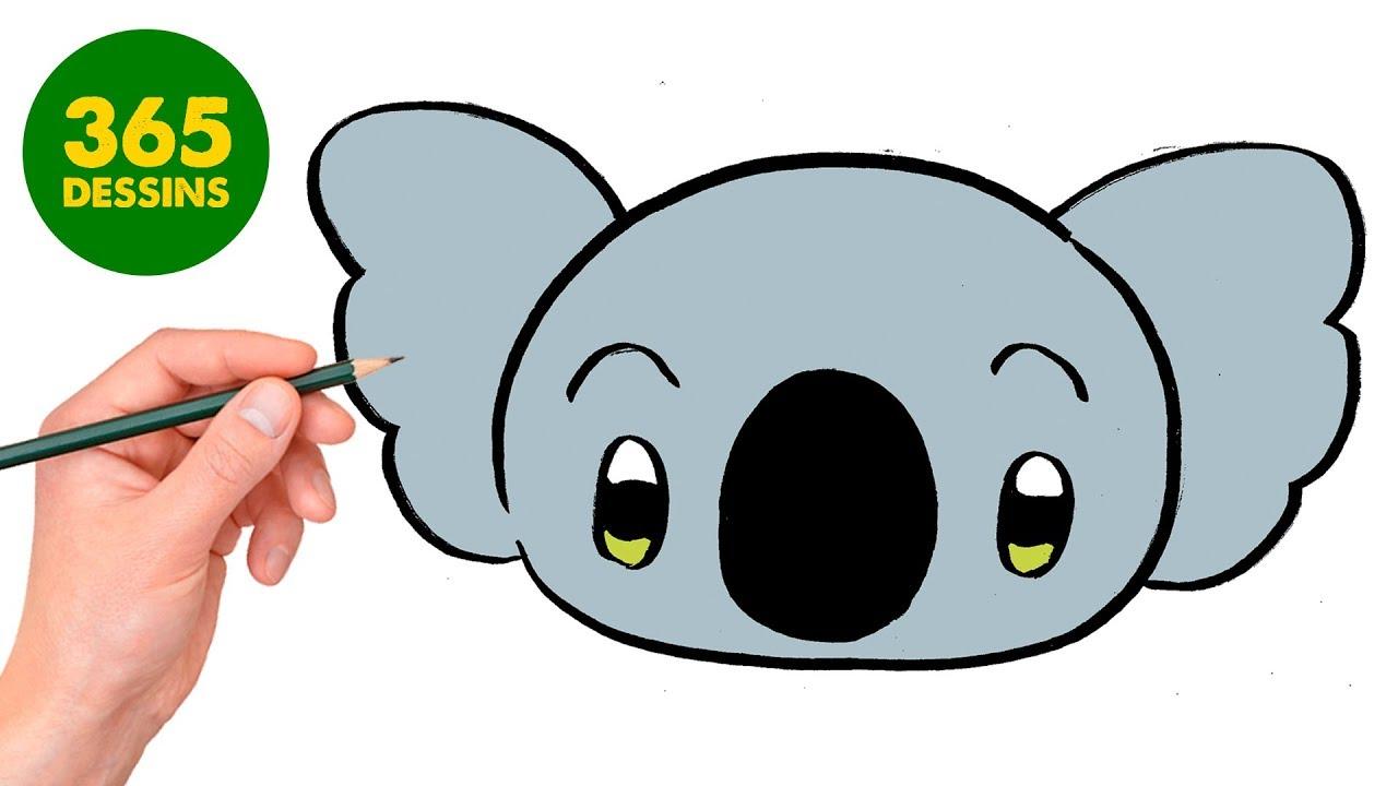 Comment Dessiner Koala Kawaii Kawaii Dessin Facile étape Par étape