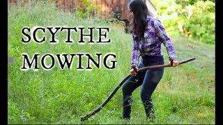 American Scythe Mowing