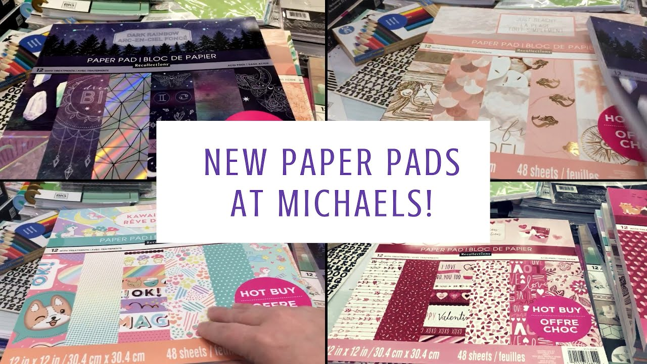 New Hot Buy Paper Pads at Michaels!| January 2019