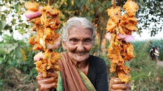 Chicken kebabs || Village Chicken Kebabs By Our Granny