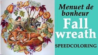 Speedcoloring Menuet De Bonheur Fall Wreath