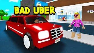 BAD UBER DRIVER IN ROBLOX BLOXBURG!!