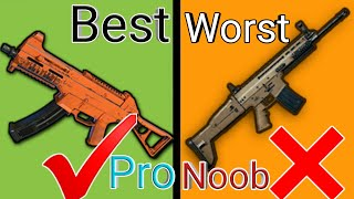 BEST And Worst Gun in PUBG MOBILE   No One Know This Secret