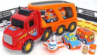 뽀로로 타요와 즐거운 차량 운송 캐리어 트럭 놀이 | …