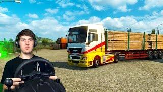 ДВОЙНОЙ РЕЙС - Euro Truck Simulator 2 + РУЛЬ Logitech driving Force GT