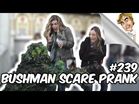 FUNNY PRANK! BUSHMAN SCARE PRANK #239 | Ryan Lewis Pranks