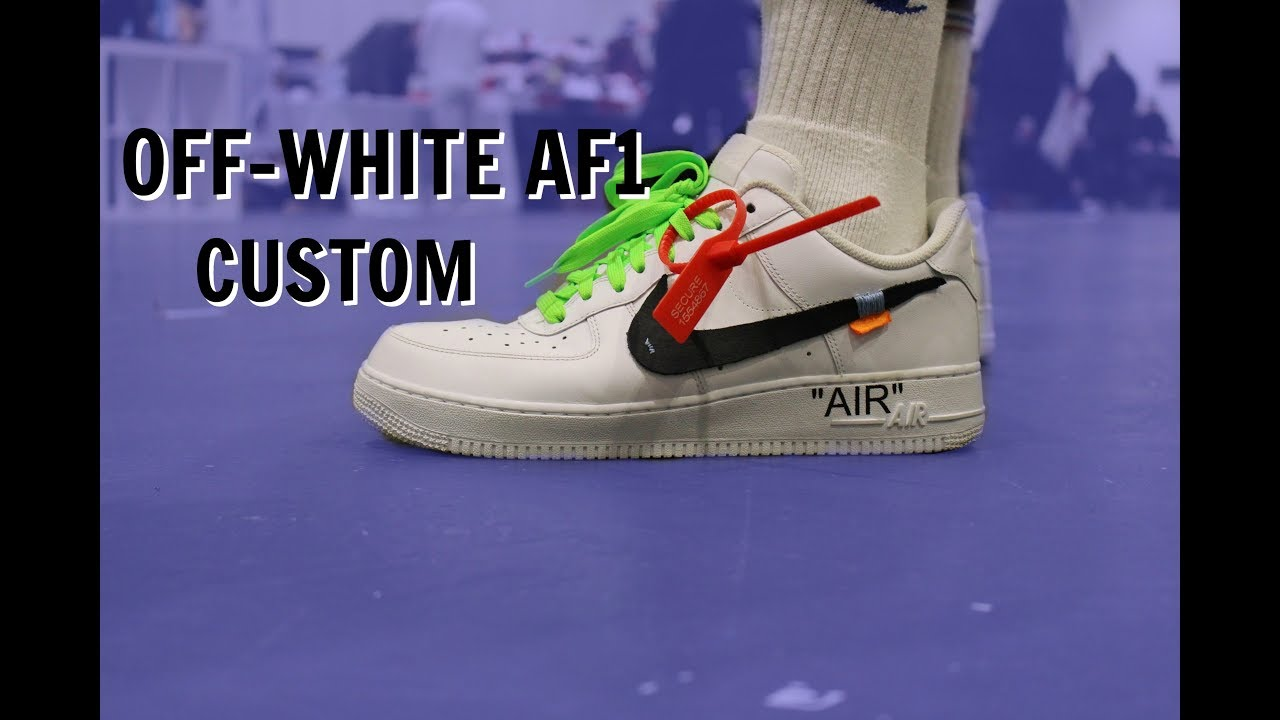 f5940eb8e77c9c CUSTOM OFF-WHITE AIR FORCE 1 - YouTube