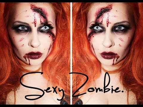 quick  easy sexy halloween zombie makeup tutorial  youtube