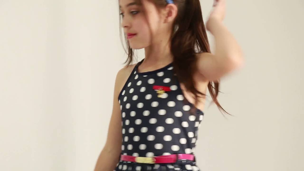 bafe5a1e5 Vestido Infantil Diforini Moda Infanto Juvenil 010780 - YouTube