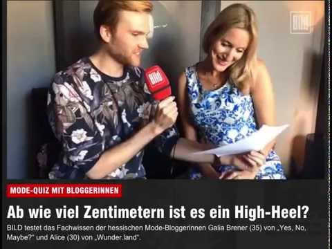 Fashion quiz: BILD newspaper asks Galia Brener