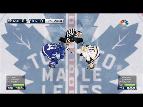 NHL 18 - Toronto Maple Leafs vs Nashville Predators - Gameplay (HD) [1080p60FPS]