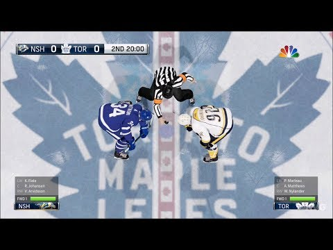 NHL 18 - Toronto Maple Leafs vs Nashville Predators - Gameplay (HD) [1080p60FPS]