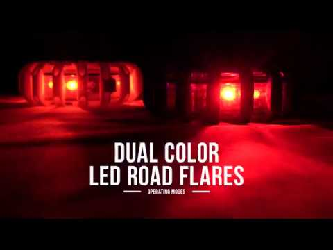 Dual Color Led Road Flare Operating Modes Youtube
