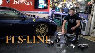 My Ferrari F430 S-line VS. 360 Fabspeed Tubi exhaust unboxing + tunnel runs + Top Speed 360 and 355