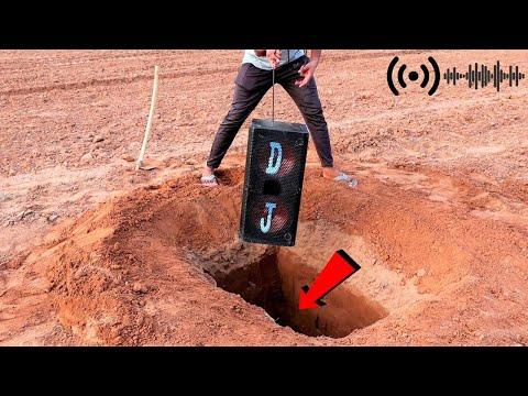 बड़े डीजे स्पीकर को जमीन में दफनाया | Large DJ Speaker Underground Test | Will It Work?