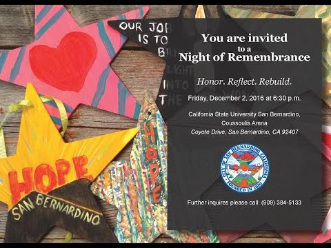 December 2nd Night of Remembrance (City of San Bernardino, CA)