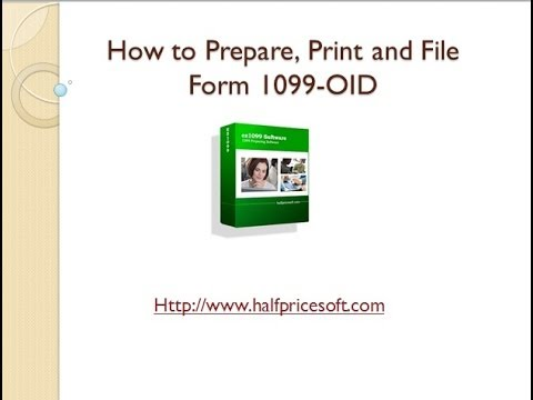 How To Print And File Form 1099 Oid Youtube