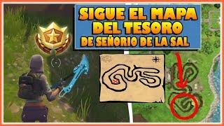 SIGUE EL MAPA DEL TESORO DE SEÑORIO DE LA SAL - DESAFIOS SEMANA 3 - FORTNITE