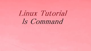 ls Command in Unix / Linux