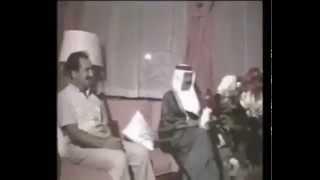 الرئيس العراقي صدام حسين يحتفل بالنصر علي إيران