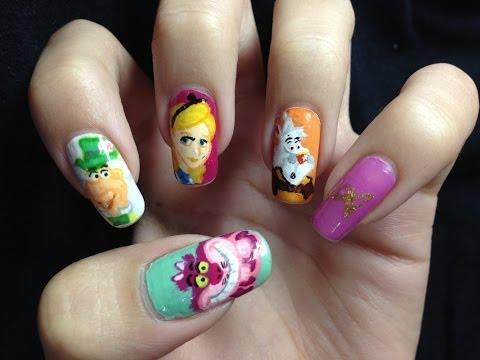 Nail Art - Alice In Wonderland