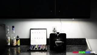 Luxbar Pir Motion Sensor With Led Light Bar Installed In And Under Kitchen Cabinet