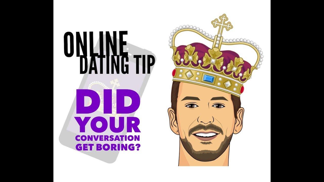 Boring online dating conversation