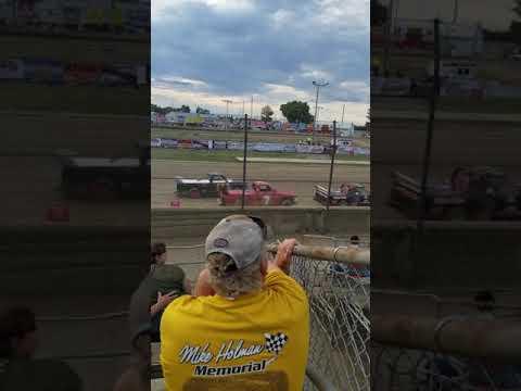 Fremont Speedway Dirt truck heat race 1 7-28-18