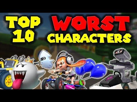 Top 10 WORST Mario Kart CHARACTERS!