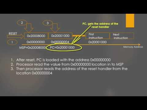 ARM Cortex M3/M4 Processor Reset Sequence