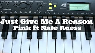 Just Give Me A Reason - Pink | Easy Keyboard Tutorial With Notes (Right Hand)