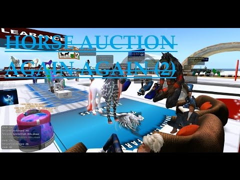 "Second Life: Ted Life ""Horse Auction Again Again"" (Trolling)"