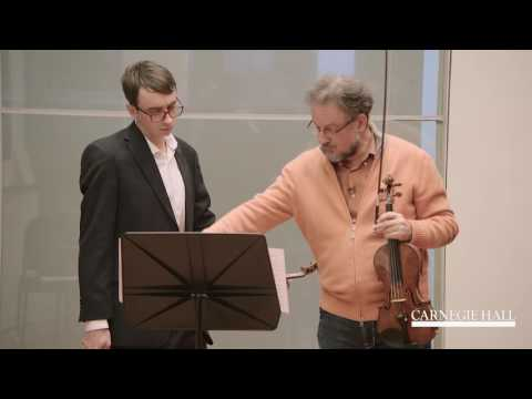 Berliner Philharmoniker Violin Master Class:  Mozart, Symphony No. 39