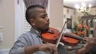 Tyler Butler-Figueroa, Violinist ABC11 News National Anthem Carolina Hurricanes Hockey Game