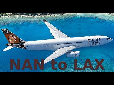 Fiji Airways - FJ 810 - Airbus A330-200 (twin-jet) - NAN to LAX (13-09-2017)