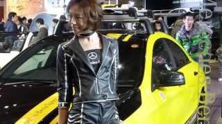 2014年1月11日幕張メッセで開催された東京オートサロン2014(一般公開日1日目)メルセデスブースより。メルセデスは東京オートサロン初出展。