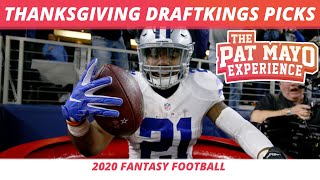 2020 Thanksgiving DraftKings Picks | NFL DFS Rankings | Week 12 DraftKings Picks