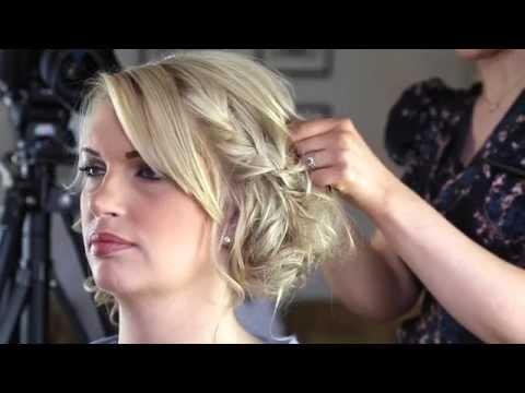 Wedding Hair Braided Bun Pin Up Hair Hairstyle