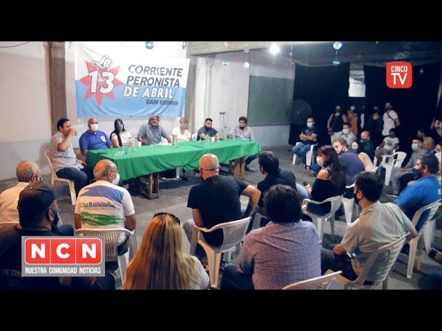 CINCO TV - Presentación de la agrupación corriente 13 de Abril en San Isidro