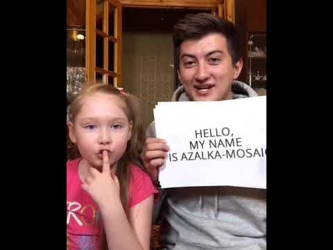 Salmanov Denis Видосики с Азалькой племяшкой продолжаются🤘🏼 Сегодня пытались учить английский