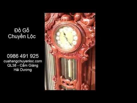 Đồng hồ cây gồ hương, đồng hồ quả lắc gỗ hương, Đồ gỗ Chuyền Lộc - 0986491925
