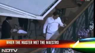 Sachin Tendulkar Meets Roger federer at wimbledon 2011-a MASTER meets an other