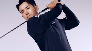 올블랙 스타일링으로 시크한 분위기의 남성 가을 골프웨어…