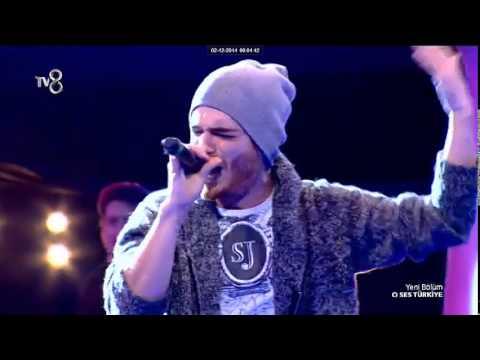 O ses Turkiye Azerbaycanli yarismaci Elnur Huseynov super ifa (Sertap Erener Ask) Tv8 01.12.2014