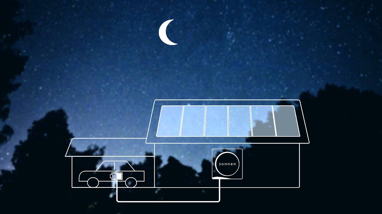 Using solar power at night
