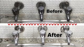 Bathroom Cleaning Tips - How to Clean a Bathroom / Kitchen Tap and Shower Tap / #1 Cleaning Method