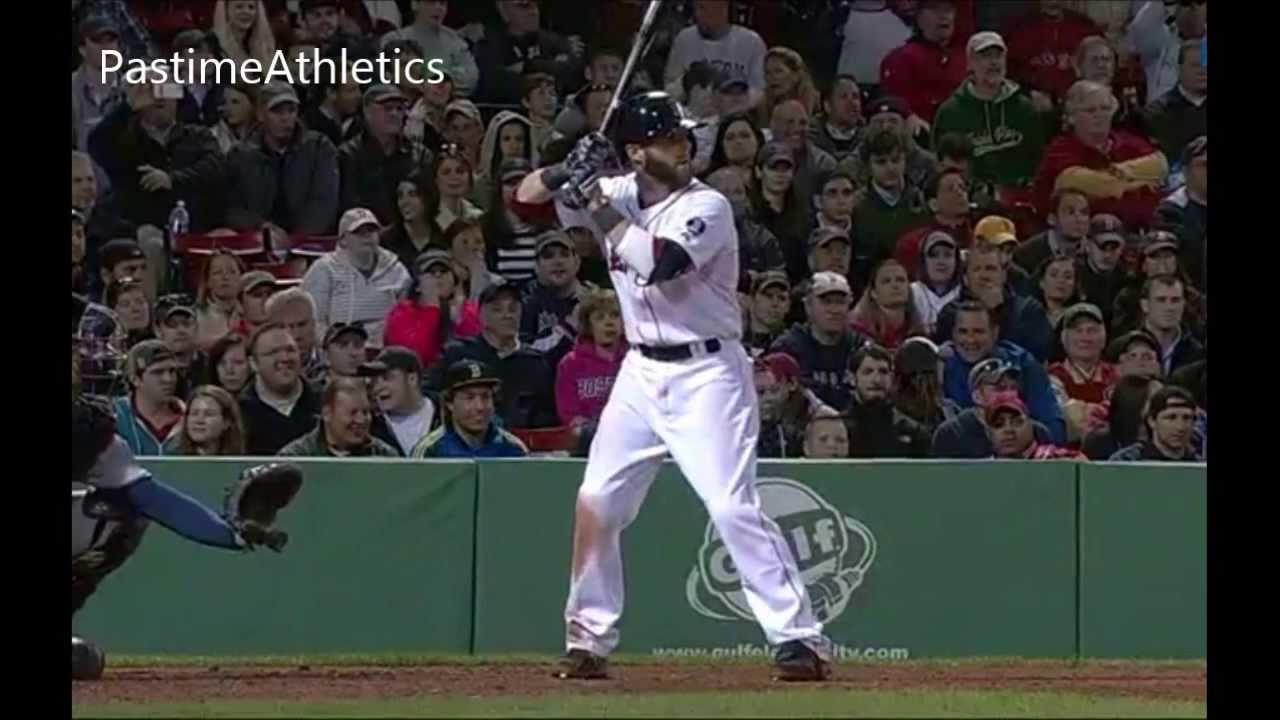 Dustin Pedroia Slow Motion Home Run Baseball Swing Hitting Mechanics Instruction Boston Red Sox MLB